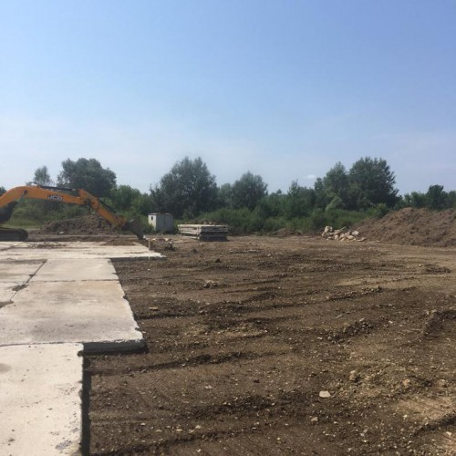 Drill pad construction at Uzhgorod, Summer 2019